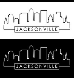 jacksonville skyline linear style editable file vector image