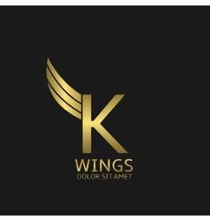 K letter logo vector image