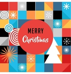Merry Christmas geometric abstract background vector image vector image