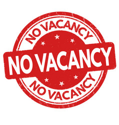 no vacancy sign or stamp vector image