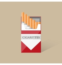 Open cigarettes pack box vector image vector image