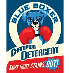 Poster boxer dog vector
