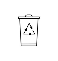 recycling bin vector image