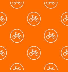Sign bike pattern seamless vector