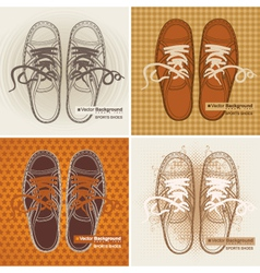 sports sneakers vector image