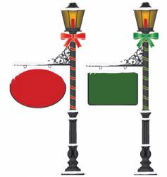 street lamp vector image vector image