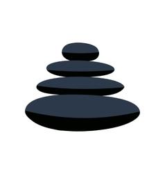 Zen basalt stones flat icon vector