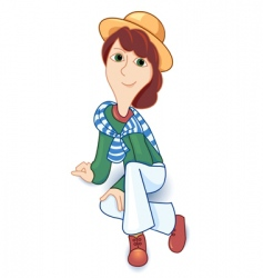 girl and hat vector image