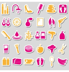 Beauty theme big set of various stickers eps10 vector