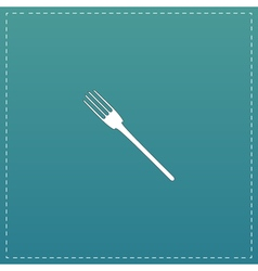 Fork flat icon vector