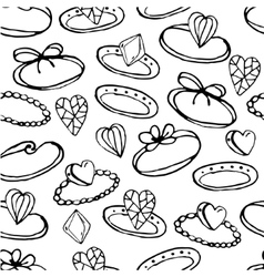 Seamless pattern with stylized rings for young vector image