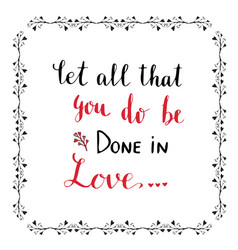 Handwritten lettering valentines day card or vector