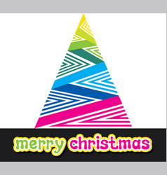 Colorful merry christmas design vector