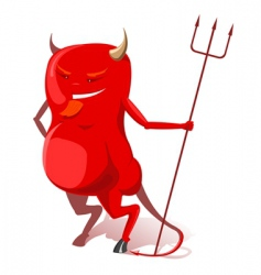 red devil vector image