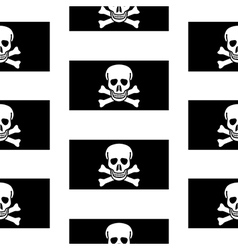 Jolly roger seamless pattern vector