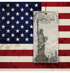 Statue of liberty usa vector