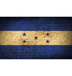 Flags honduras with dirty paper texture vector