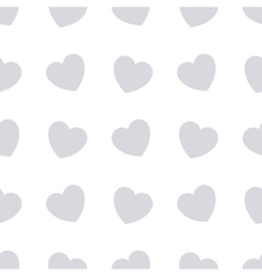 Gray hearts seamless bakground pattern vector