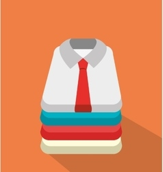 Businessmen shirts clothes graphic vector