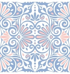 Seamless greek floral ornament meander vector