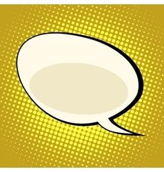 Cloud comic bubble retro background for text vector