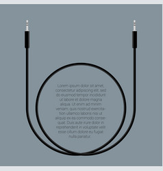 audio cable template vector image