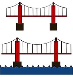 Cartoon bridge vector