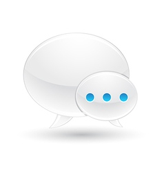 chat icon with white background vector image vector image