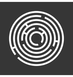 Circle ring maze on black background vector