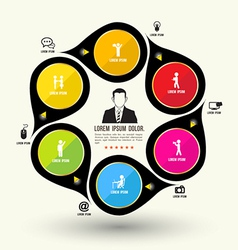 Circle rotate with icons template vector image
