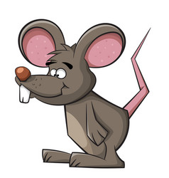 Cute mouse funny rat vector