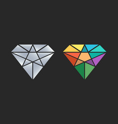 Diamond logo design icon vector
