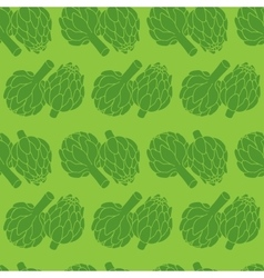 doodle of artichoke seamless pattern vector image vector image