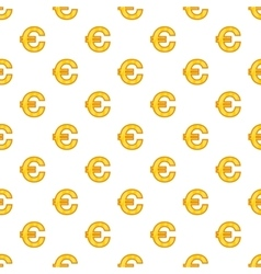 Euro currency symbol pattern cartoon style vector image vector image