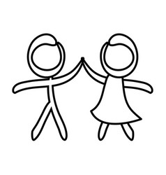 figure of couple icon vector image vector image