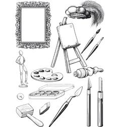 Fine Art Set vector image