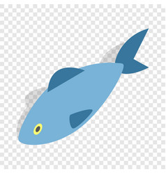 fish isometric icon vector image