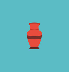 Flat icon vase element of vector
