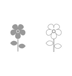 flower it is black icon vector image vector image