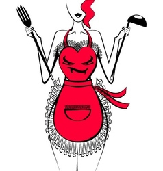 Funny apron vector