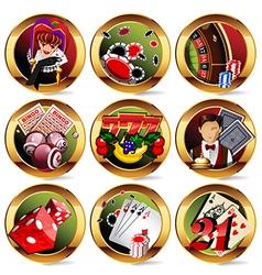 gambling icons vector image vector image