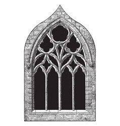 Gothic architecture st margarets chapel tracery vector