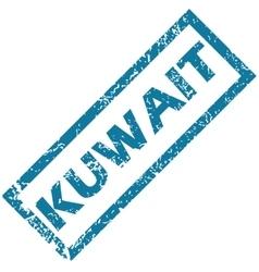 Kuwait rubber stamp vector