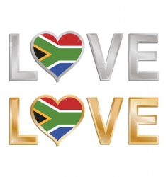 love south Africa sign vector image vector image