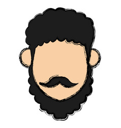 Man with turban mustache nativity vector