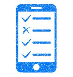Mobile checklist icon grunge watermark vector