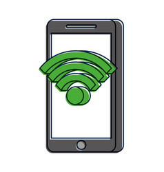 mobile phone wifi online app technology vector image