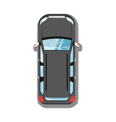 modern suv car top view icon vector image