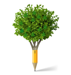 Pencil in the form of a tree vector