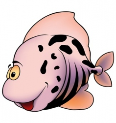 pink spotted fish vector image vector image